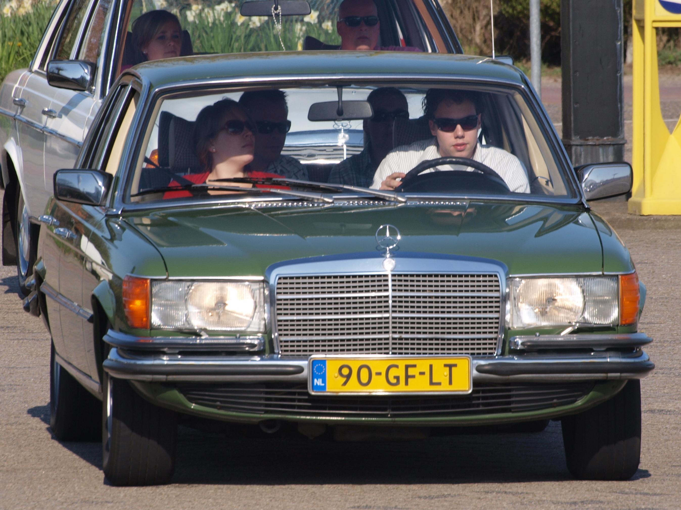 File Mercedes Benz 450 Se 1975 Dutch Licecence Registration 90 Gf Lt Jpg