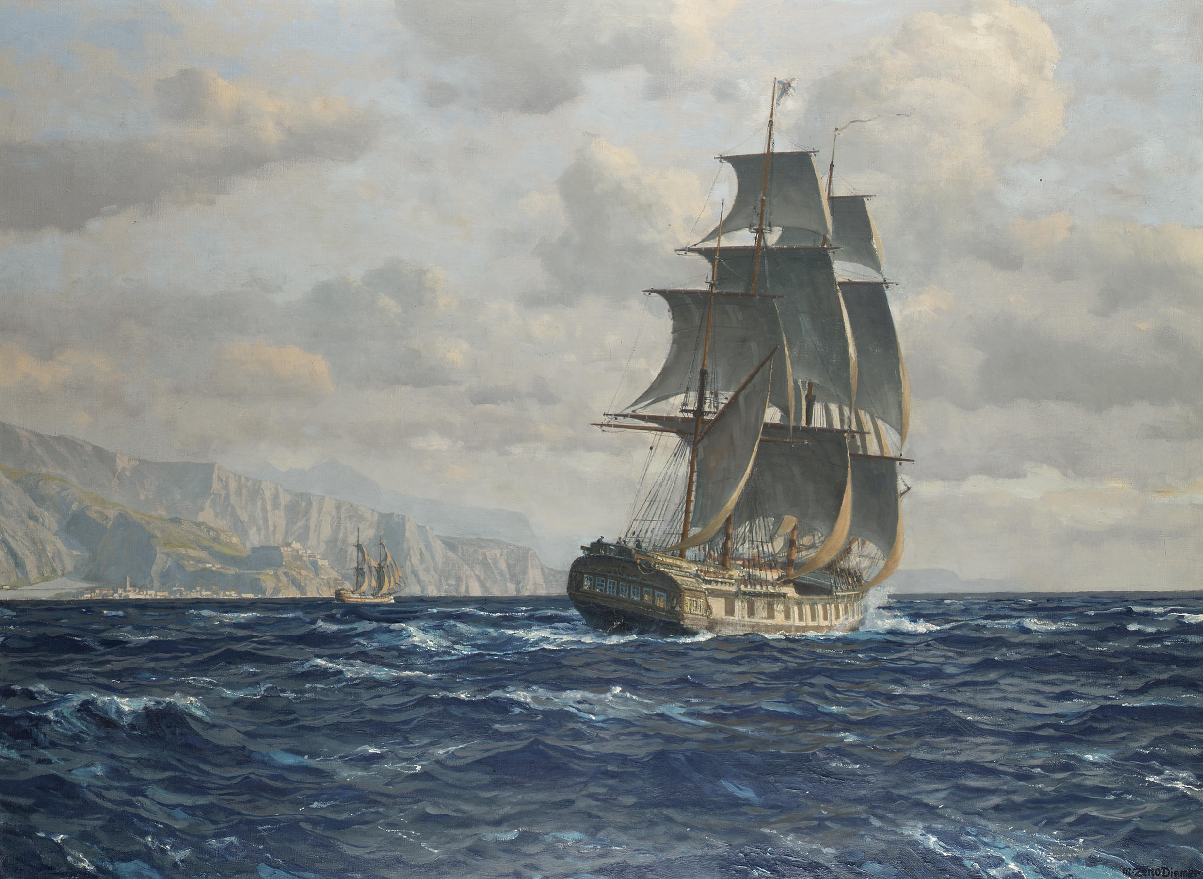 Sailing Ships Oil Paintings Prussen
