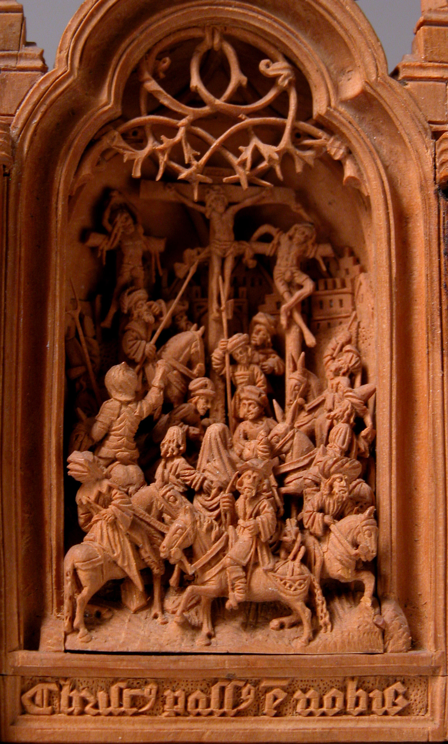 Miniature altarpiece with the crucifixion wikipedia