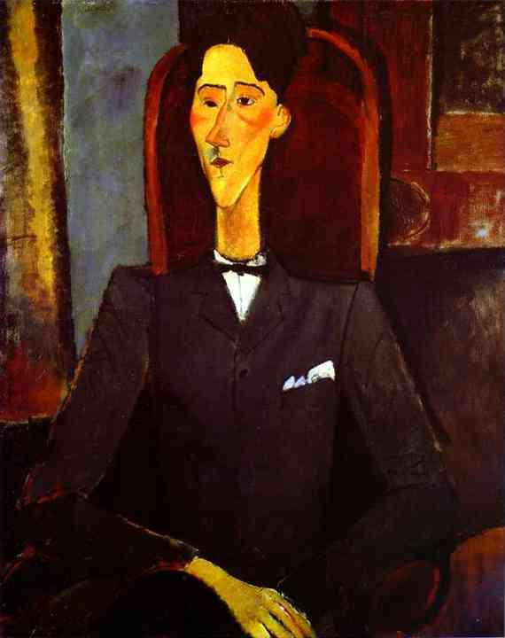 アメデオ・モディリアーニ「ジャン・コクトーの肖像」1916年。Wikipediaより。