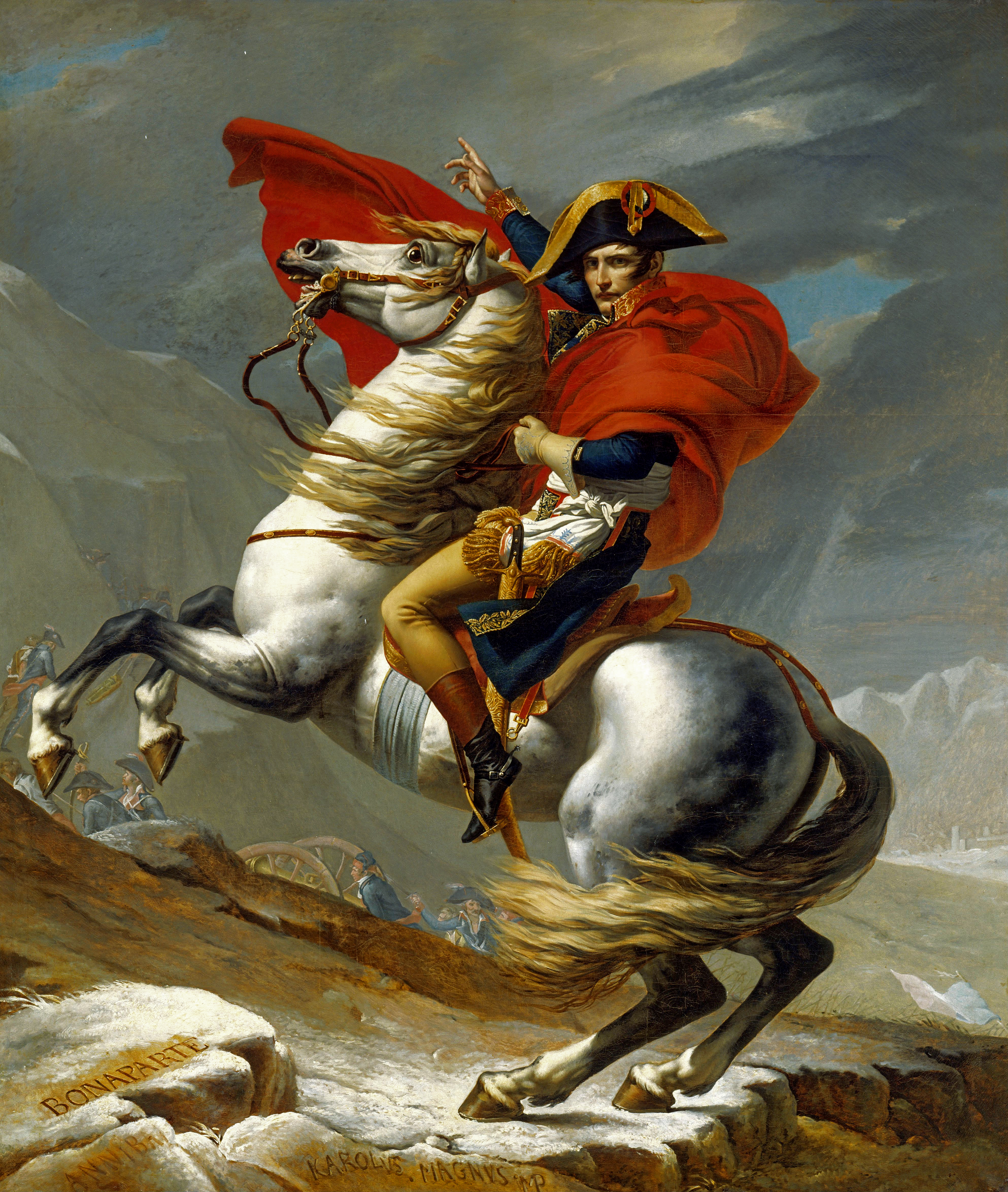 File napoleon david for Napoleon horse painting