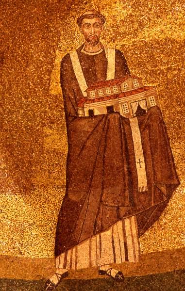Fichier:Onorio I - mosaico Santa Agnese fuori le mura.jpg