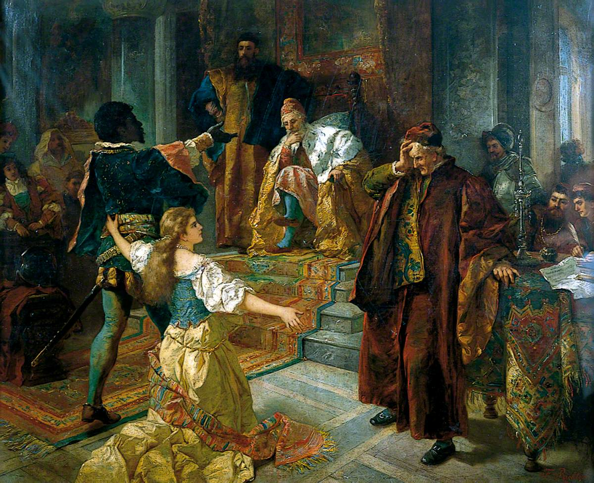 What Type Of Oil >> File:Othello by E.F.W. Richter (1880-1, Kirklees).jpg