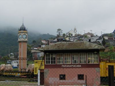 Vista da vila de Paranapiacaba, olhando-se da parte baixa da cidade