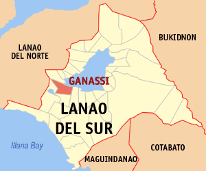 Map of Lanao del Sur showing the location of Ganassi