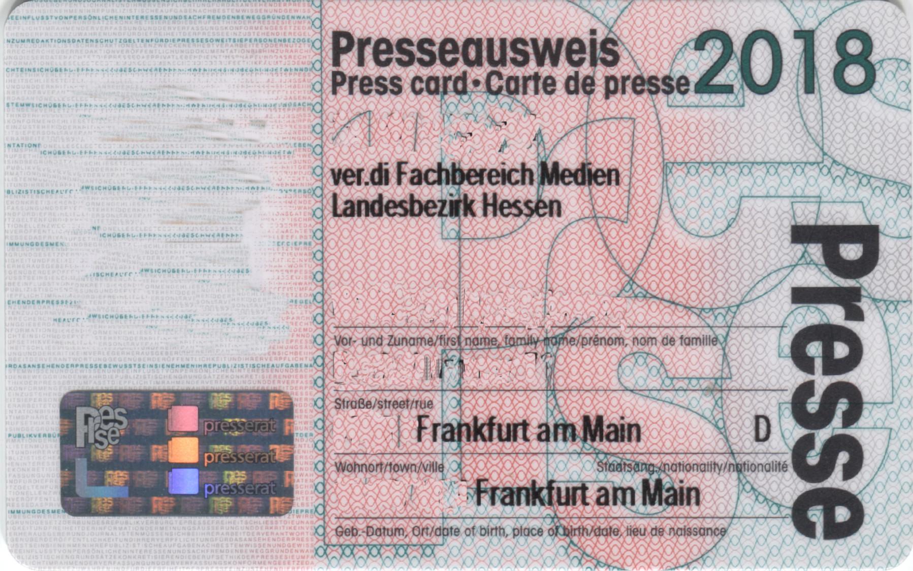 Presseausweis – Wikipedia