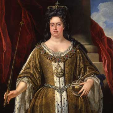 Portrait of Queen Anne in 1702, the year she became queen, from the school of John Closterman