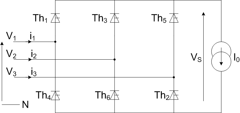 Redresseur triphase double alternance thyristor.png