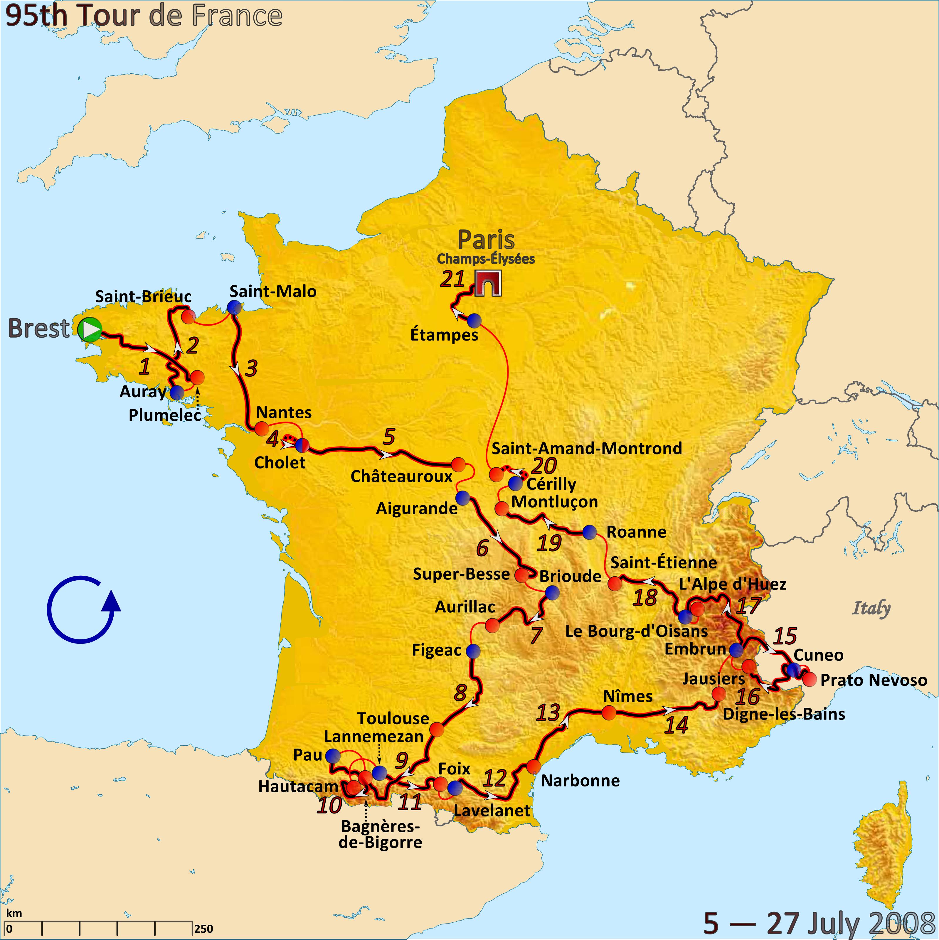 """Velochrono on Twitter: """"Parcours du #TDF 2015 : en + de la carte, on a ..."""