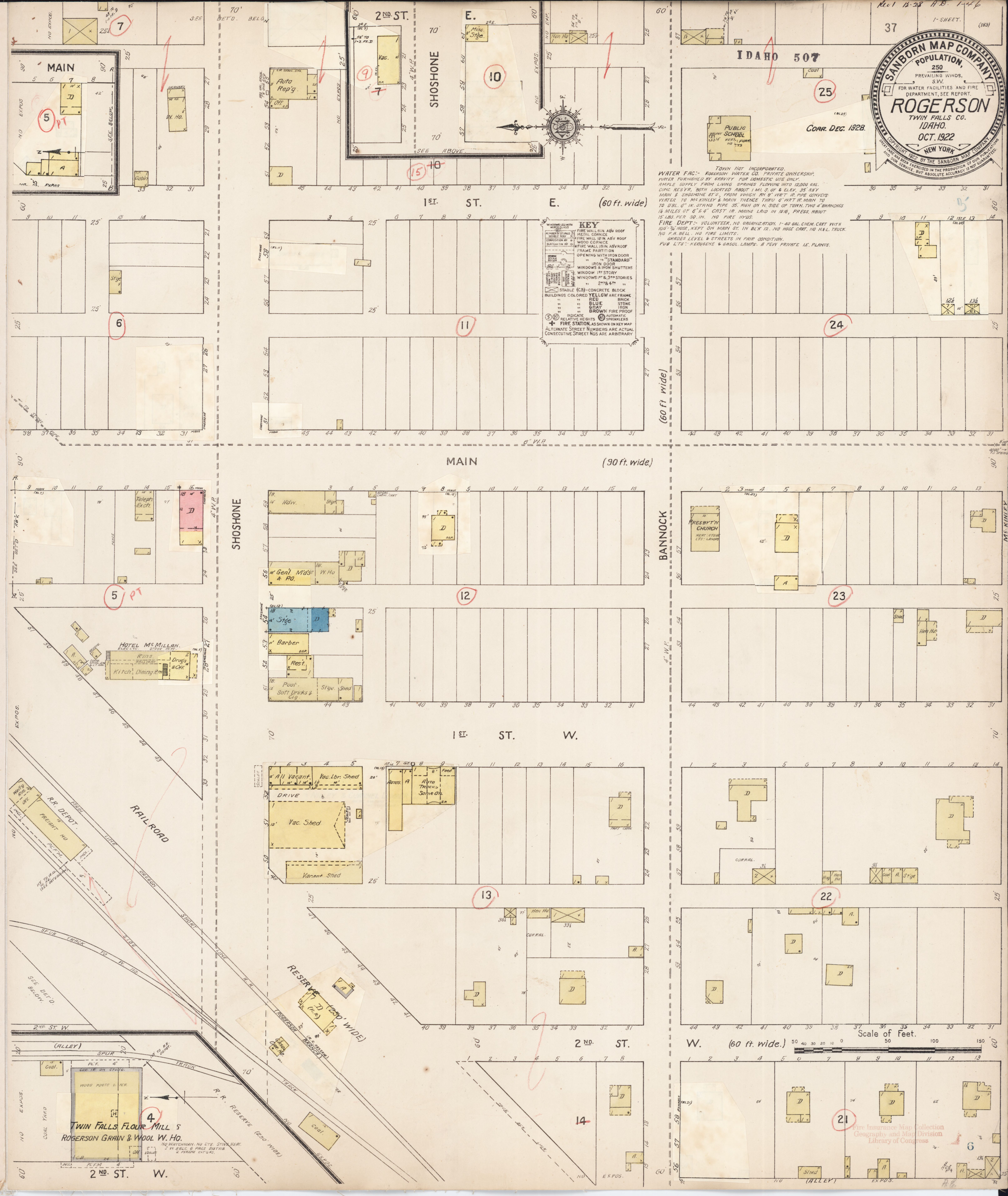 File Sanborn Fire Insurance Map From Rogerson Twin Falls County