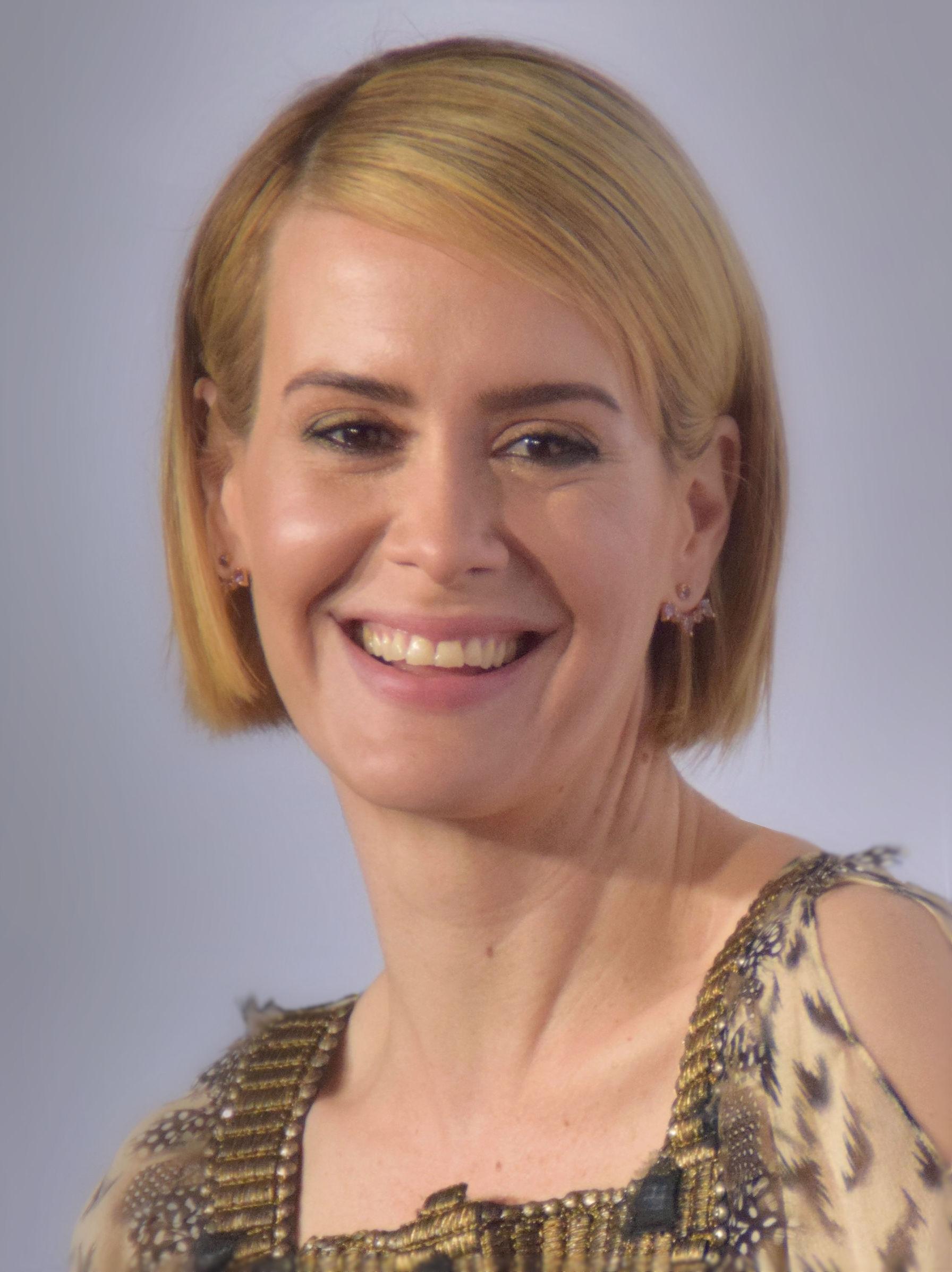 Photo de Sarah Paulson avec un hauteur de 172 cm et à l'age de 43 en 2018