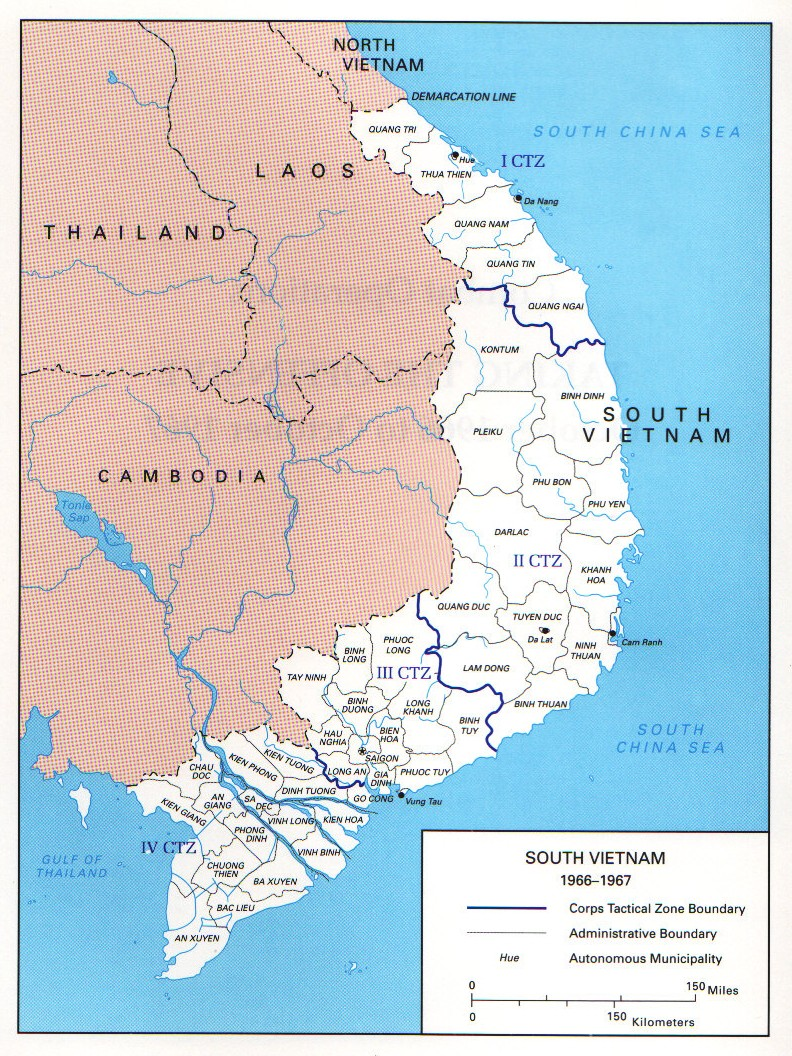 In The Vietnam War Wikipedia - Map of us bases in south vietnam