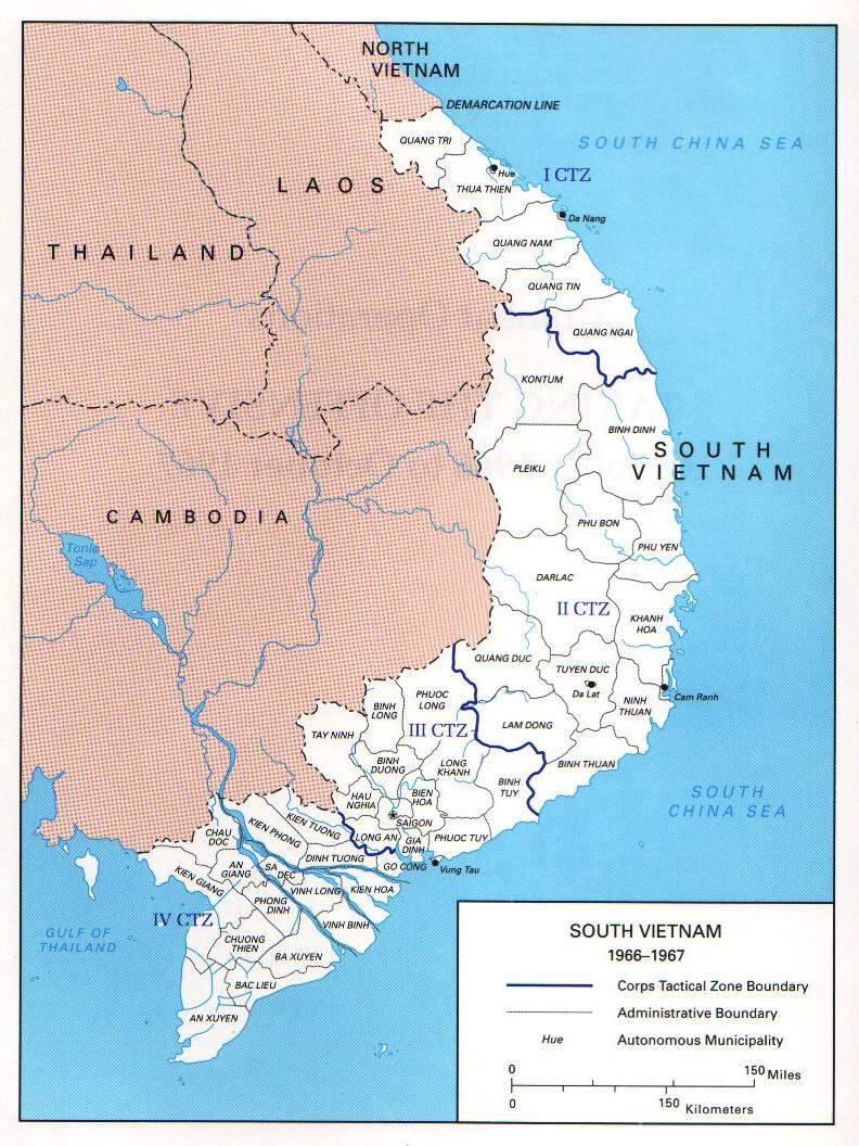 South Vietnam Map
