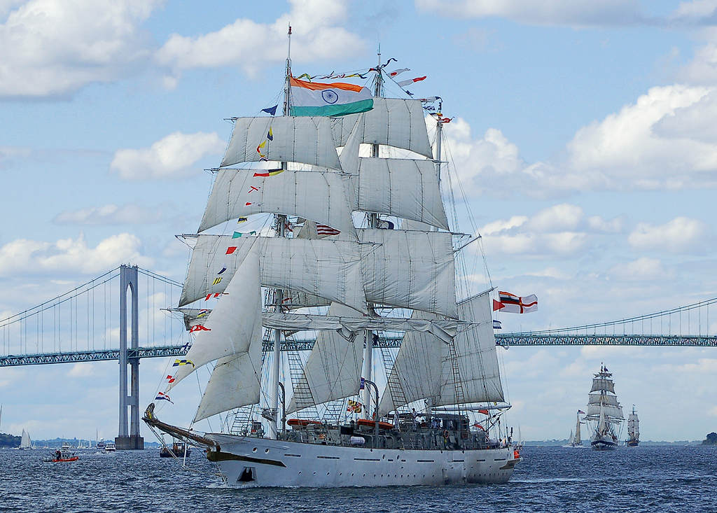 INS Tarangini, a sailing ship in service with the Indian Navy.