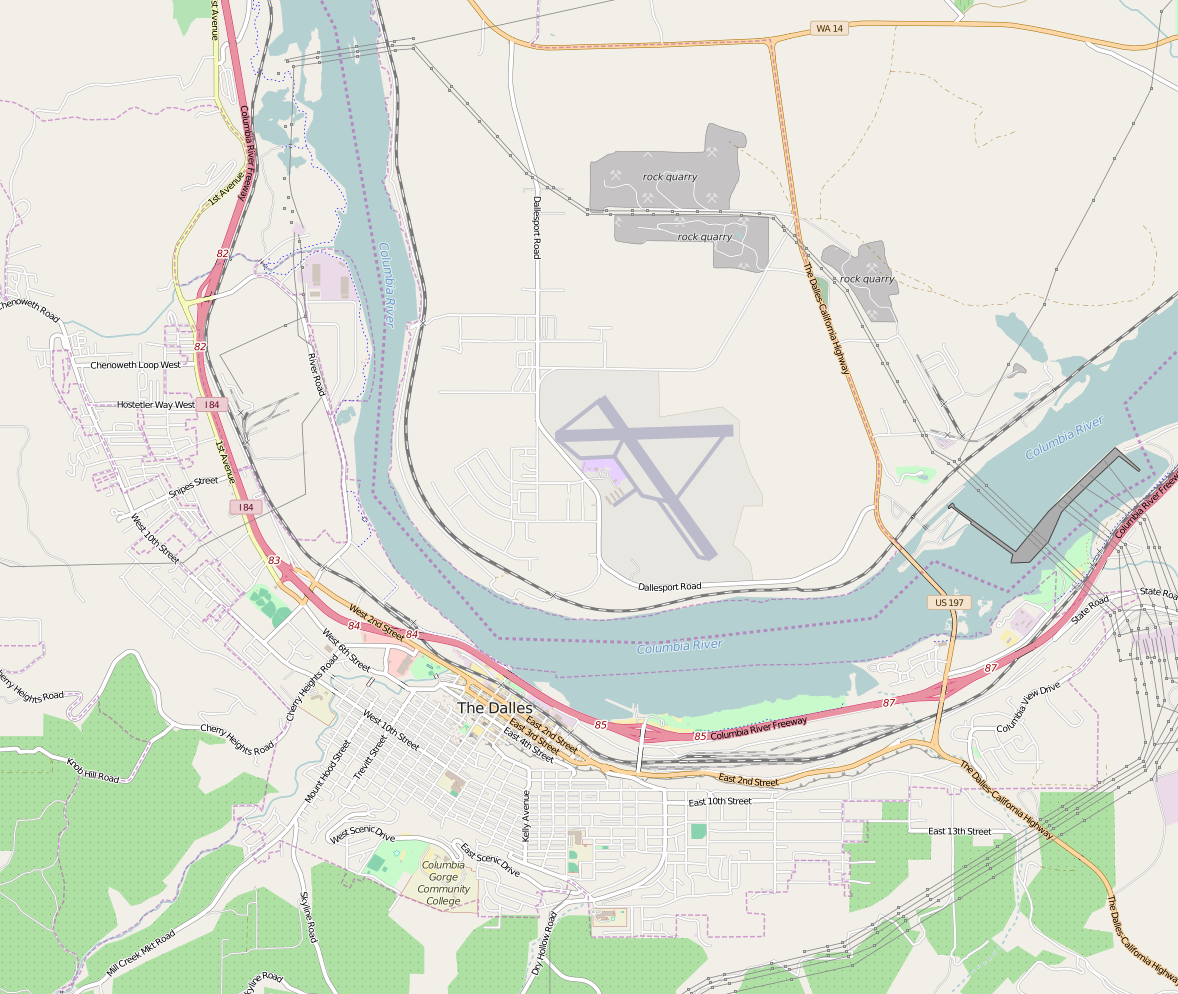 File The Dalles Or Openstreetmap Png Wikimedia Commons