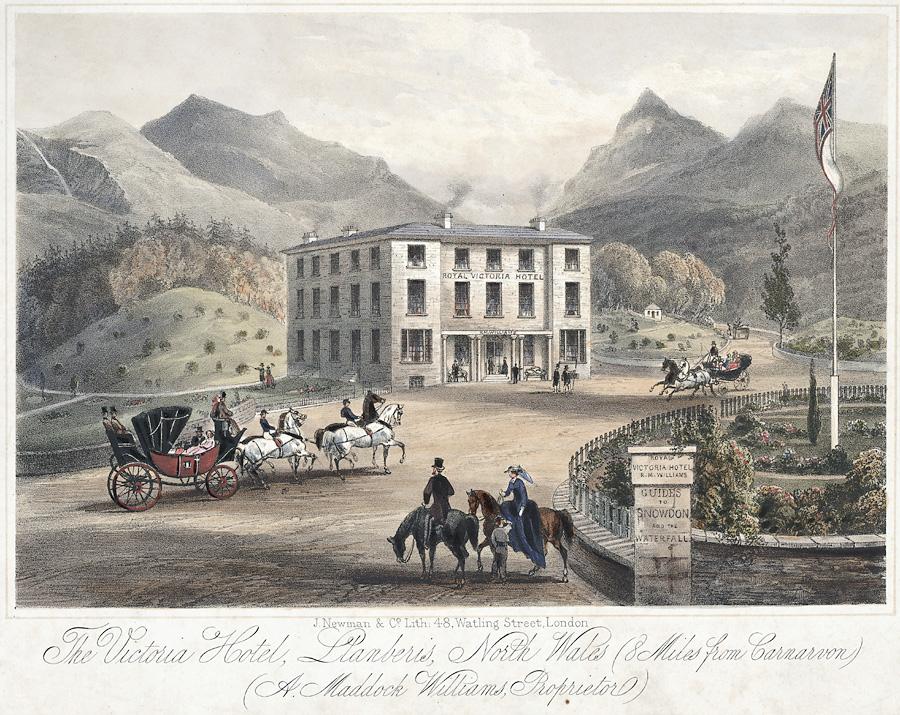 The Victoria Hotel, Llanberis: north Wales (8 miles from Carnarvon) A. Maddock proprirtor