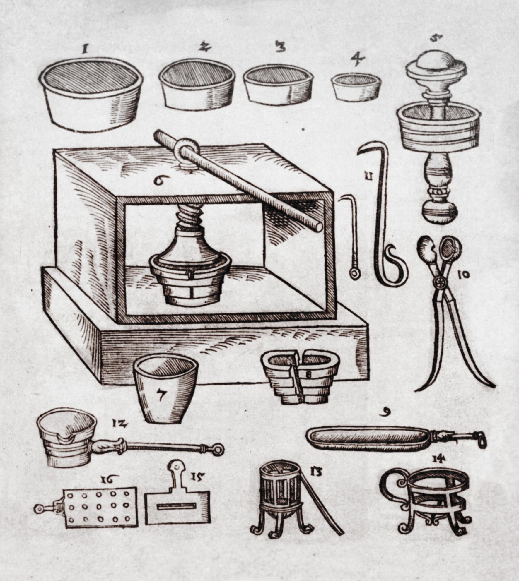 Файл:Tools for assay Andreus Libavius Alchemy 1606.jpg
