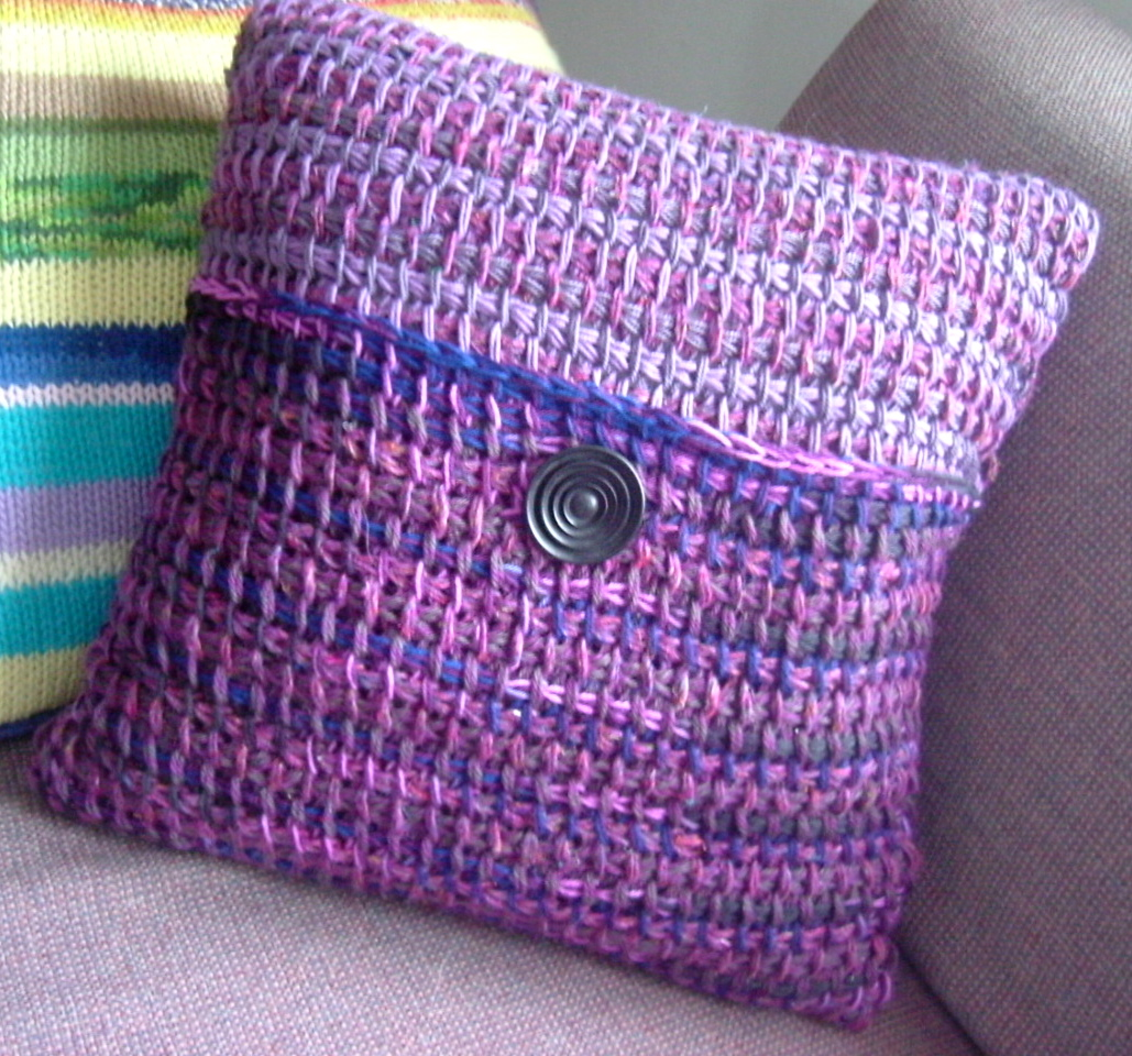 File:Tunisian crochet pillow.jpg - Wikimedia Commons