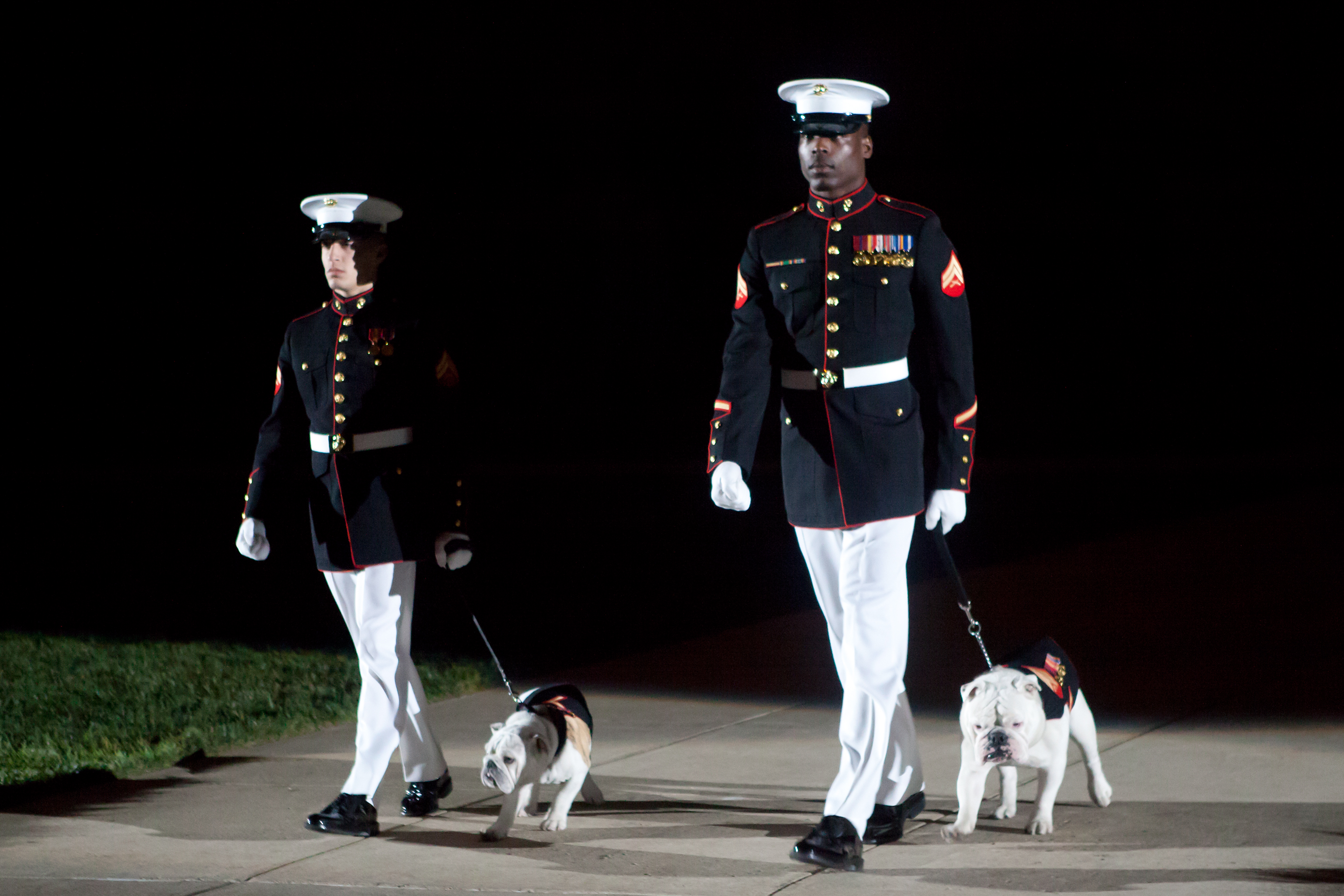 File:U.S. Marine Corps sergeants escort the current Marine ...