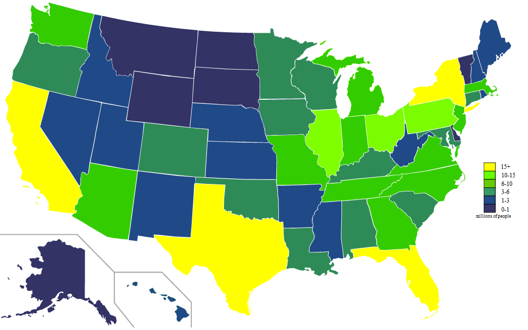 FileUSA States Population Map Colorpng Wikimedia Commons - Us population density map by state