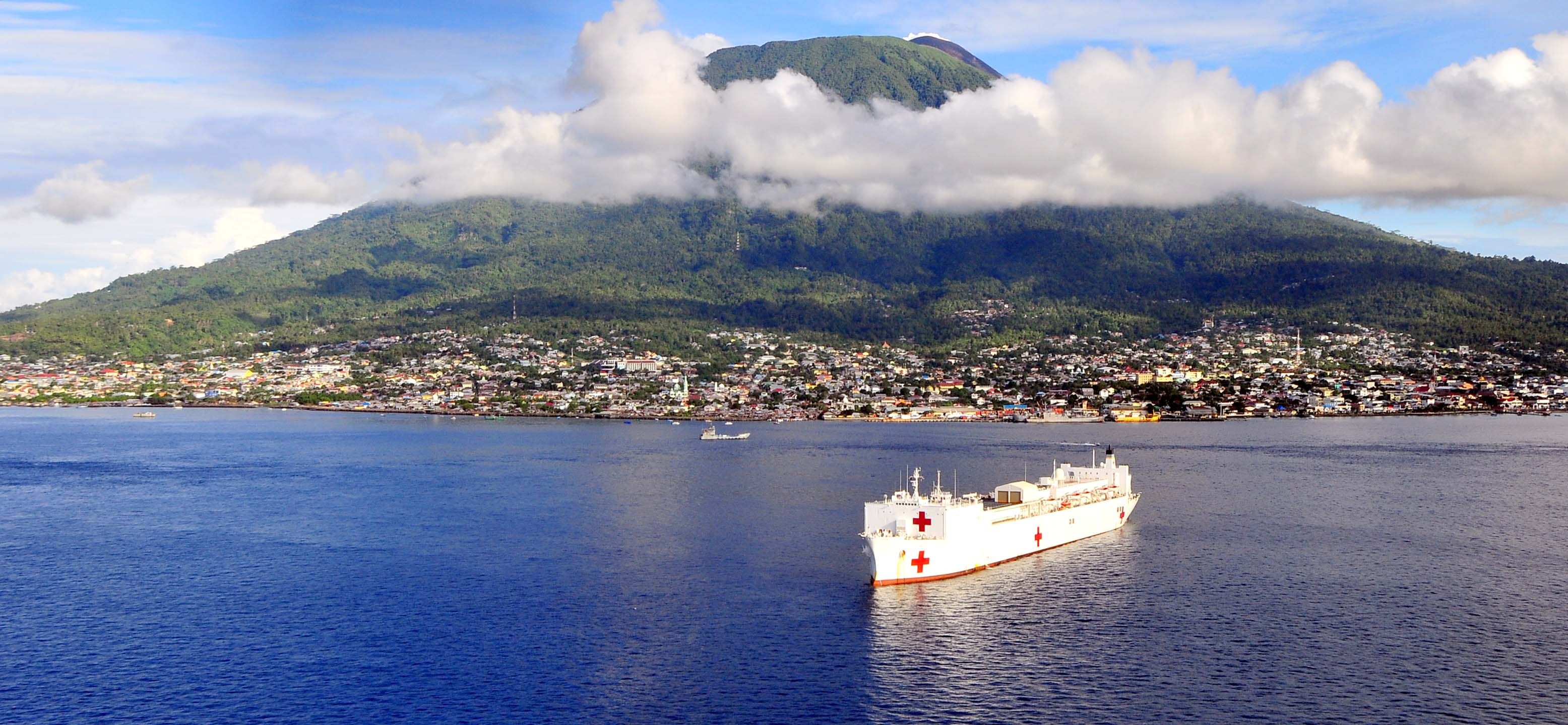 Ambon Indonesia  city images : ... :USNS Mercy off the coast of Ambon, Indonesia Wikimedia Commons