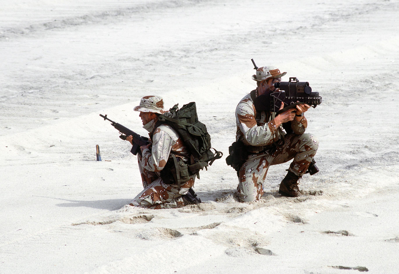 File:US Navy SEALs with laser designator.jpg - Wikimedia ... M14 Ebr Rifle