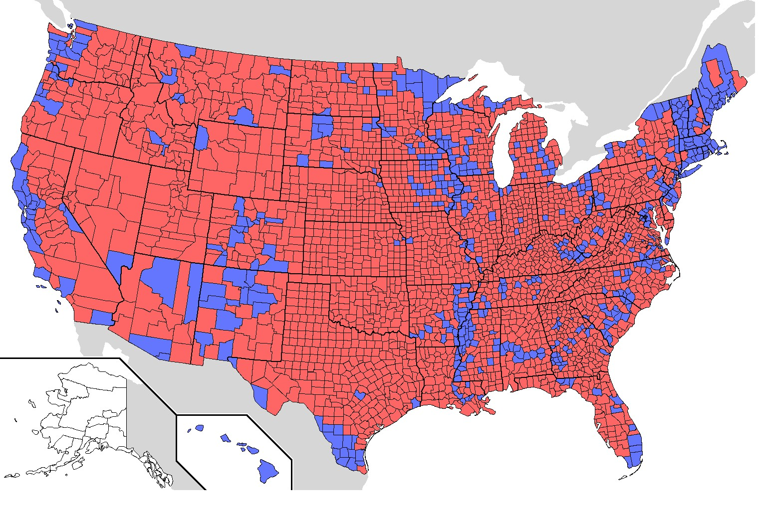 elections york city california chicago large concentrations democrats 2008 2004