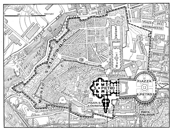 Vatican City Map 1929