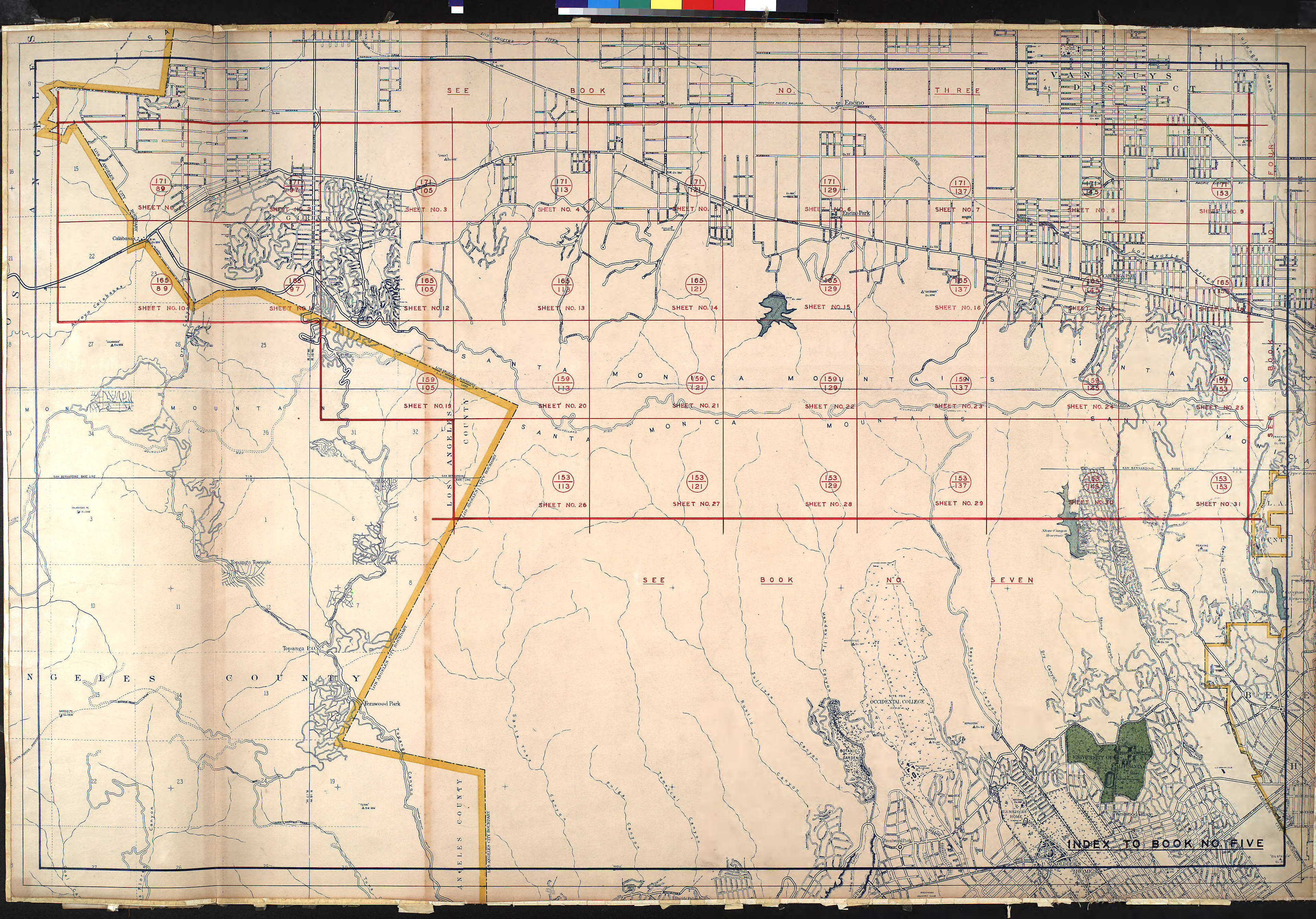 City Of Los Angeles Organizational Chart: WPA Land use survey map for the City of Los Angeles book 5 ,Chart