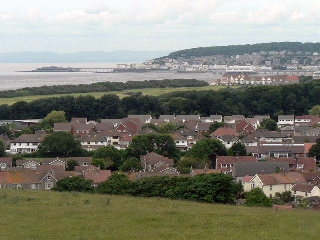 A view over Weston Super Mare, Somerset, England
