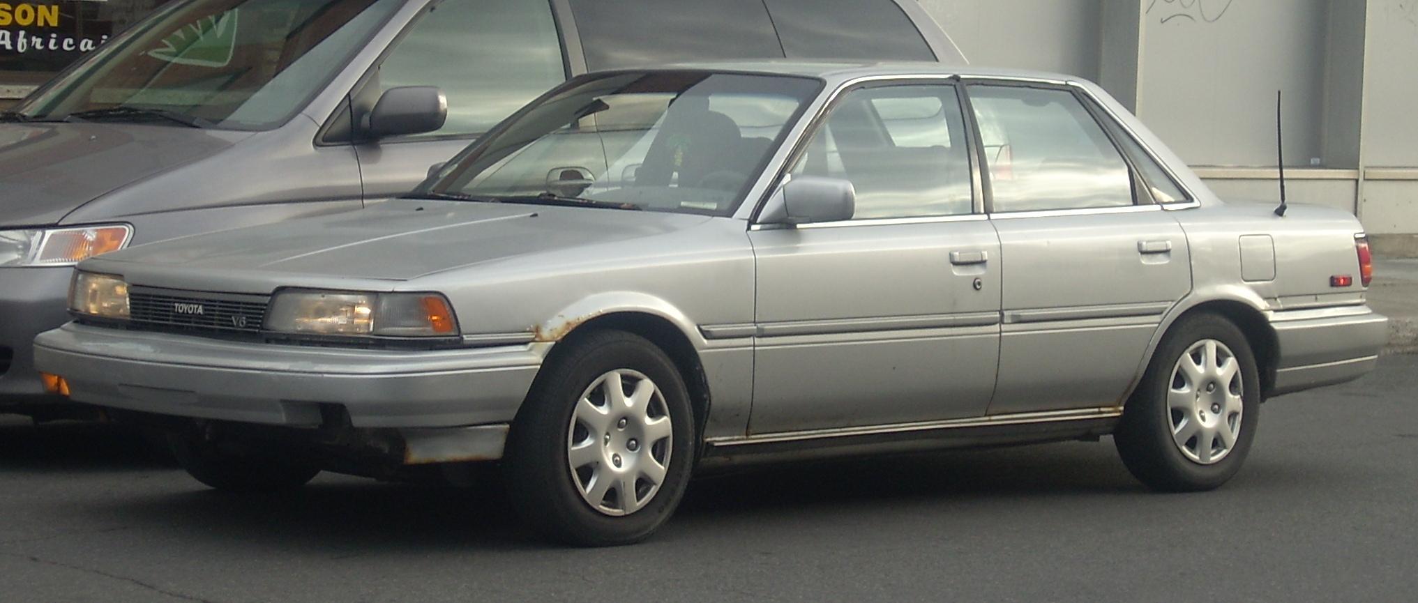 File 87 90 Toyota Camry V6 Sedan Jpg Wikimedia Commons
