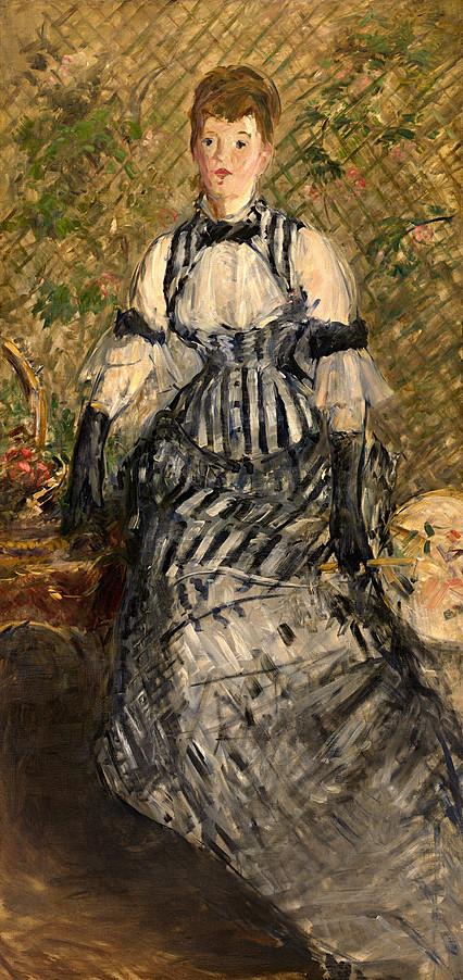 Édouard Manet - Femme en robe de soirée (RW 341).jpg