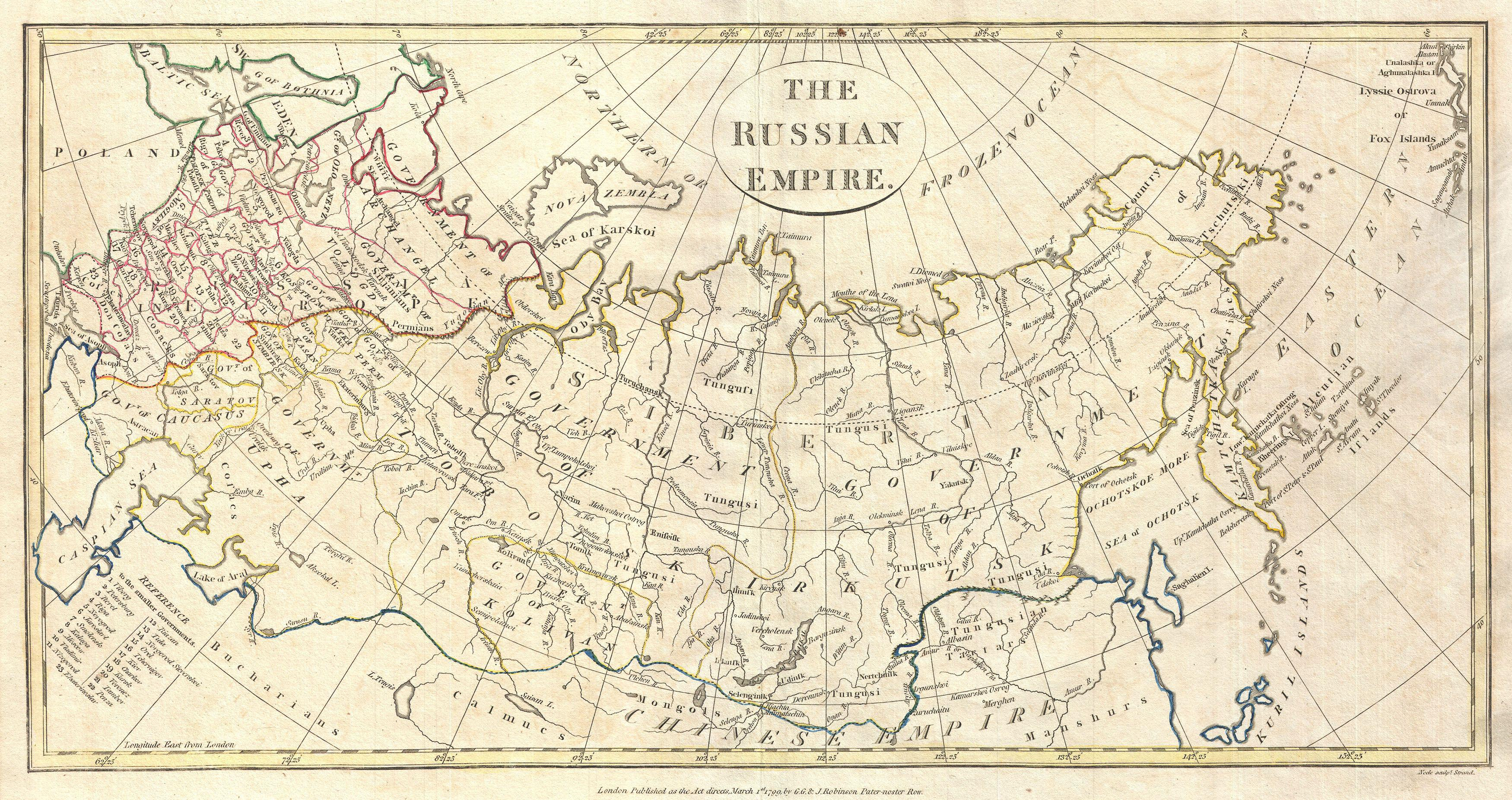 File:1799 Clement Cruttwell Map of Russian Empire   Geographicus