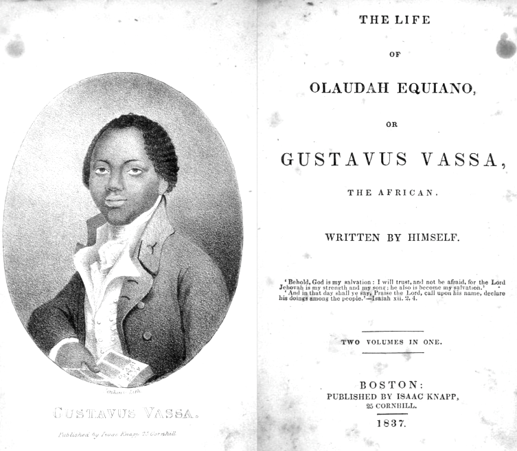 File:1837 Life of Olaudah Equiano published by Isaac Knapp.png ...