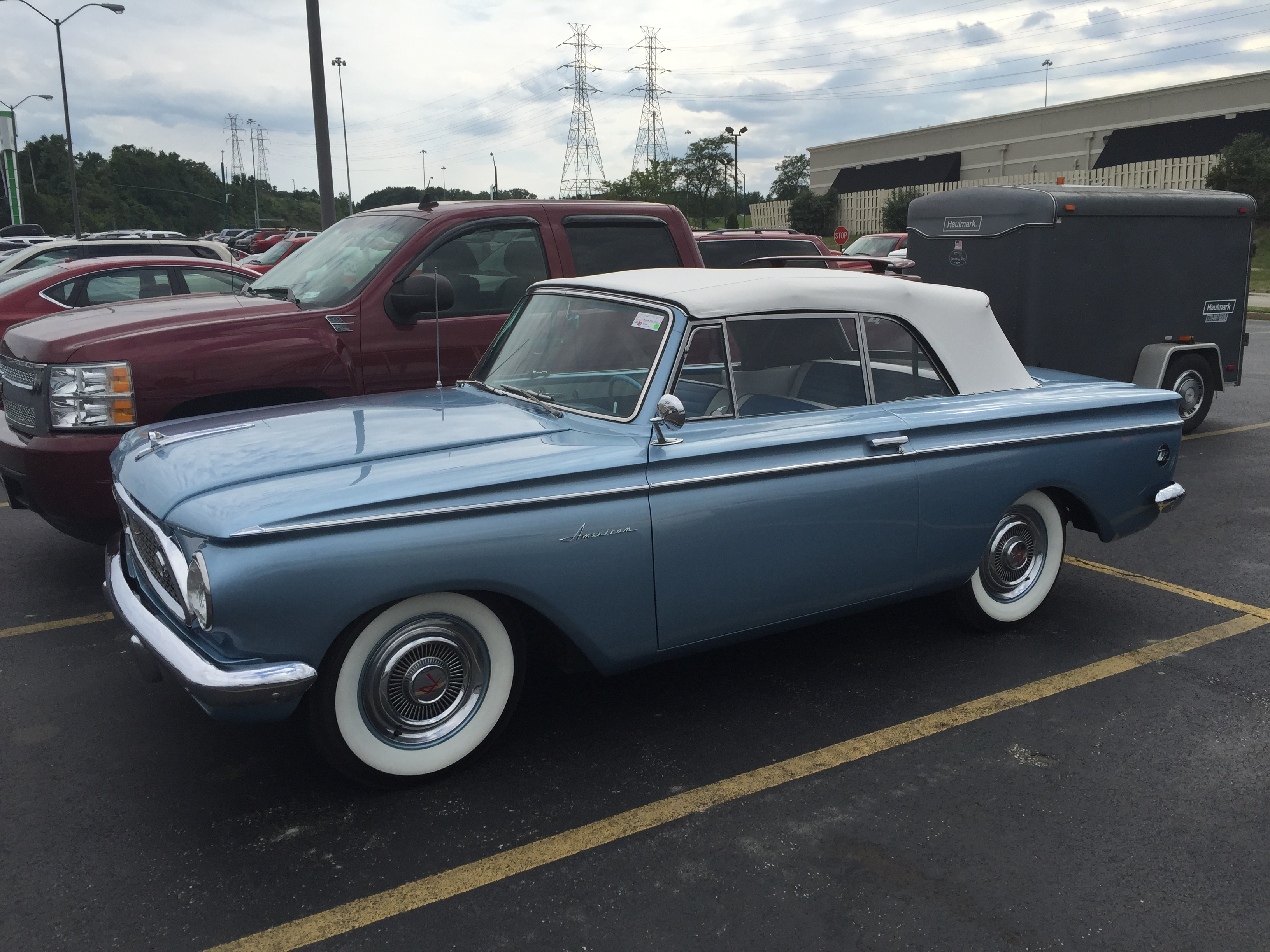 File 1961 Rambler American Custom convertible at 2015 AMO show 1of7 on head car door