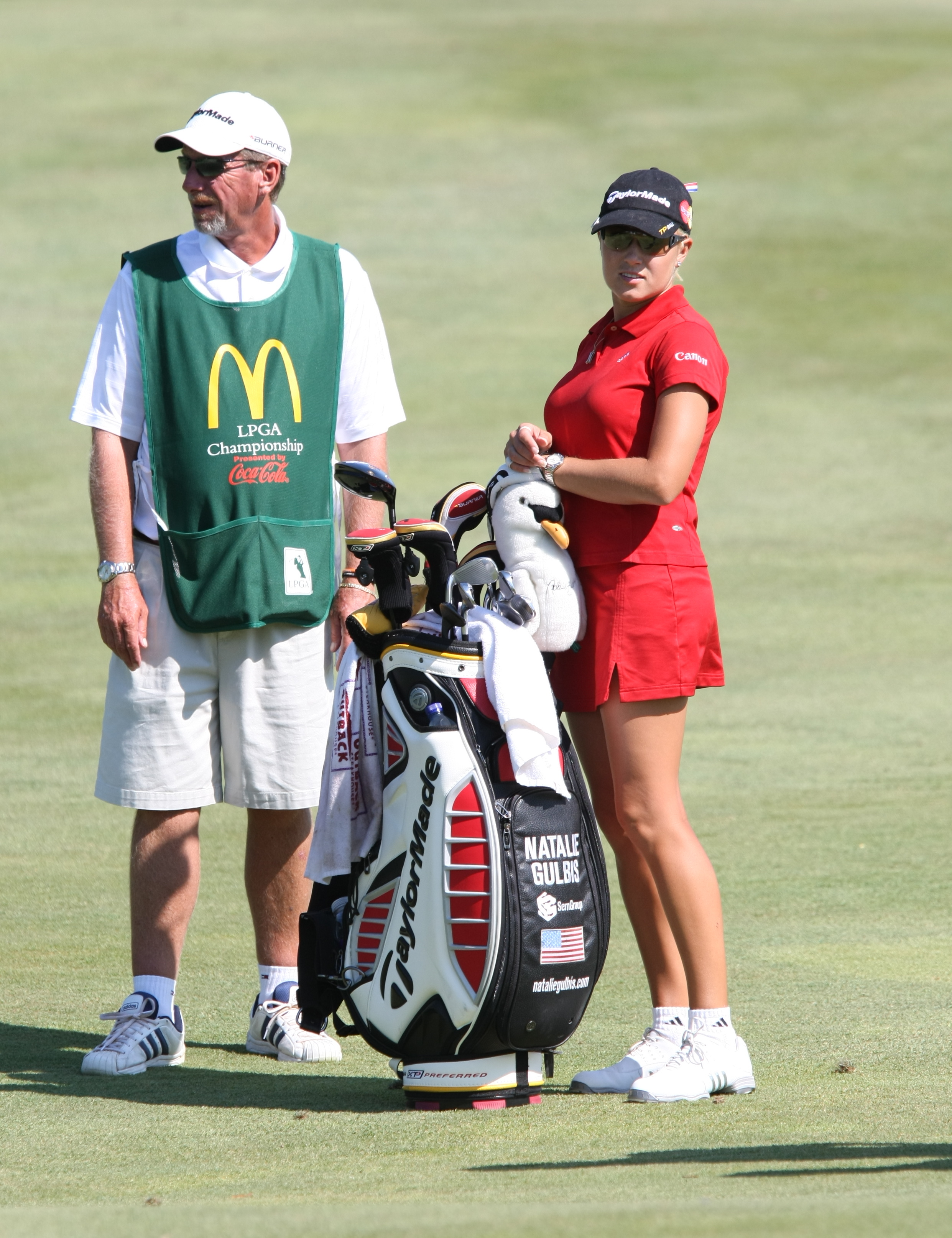 file 2008 lpga championship natalie gulbis with her caddie 1 jpg wikimedia commons. Black Bedroom Furniture Sets. Home Design Ideas
