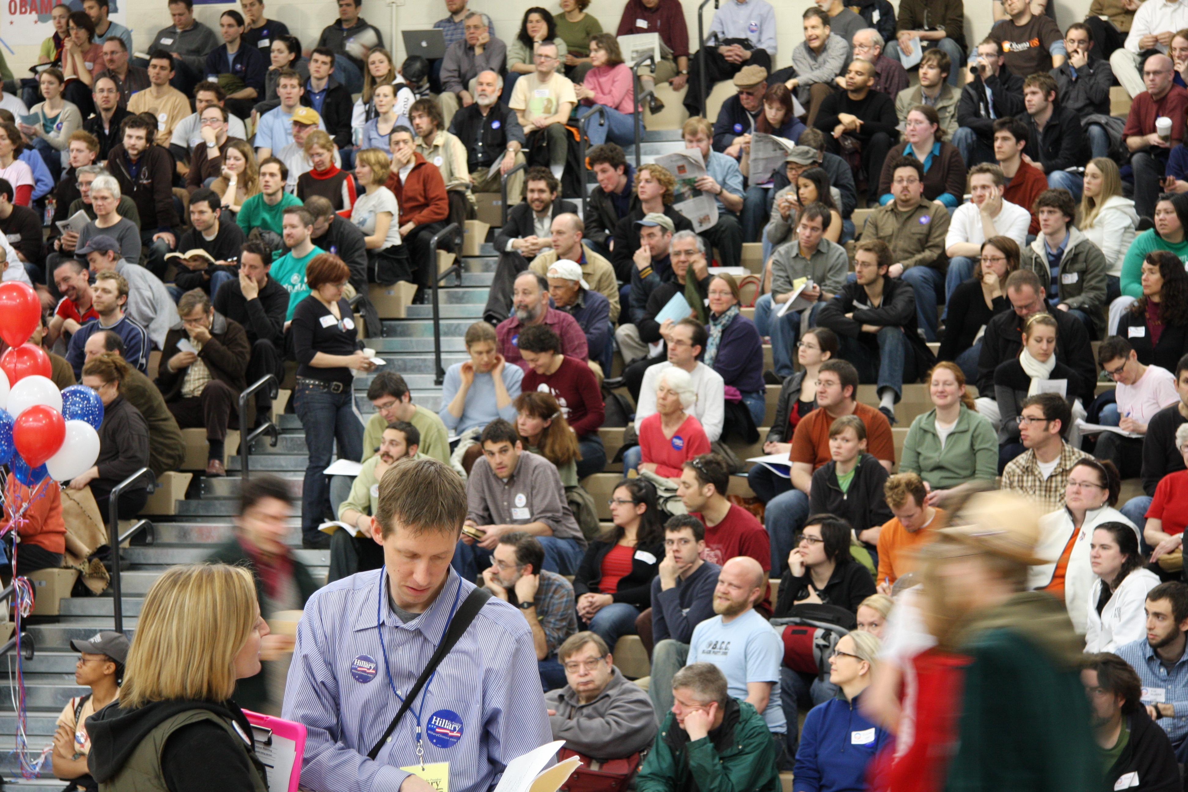 Washington Democrats meet in the legislative district caucuses.