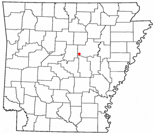 Location of El Paso, Arkansas