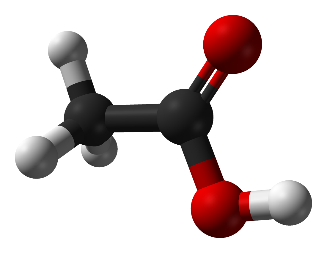 Azijnzuur molecuul