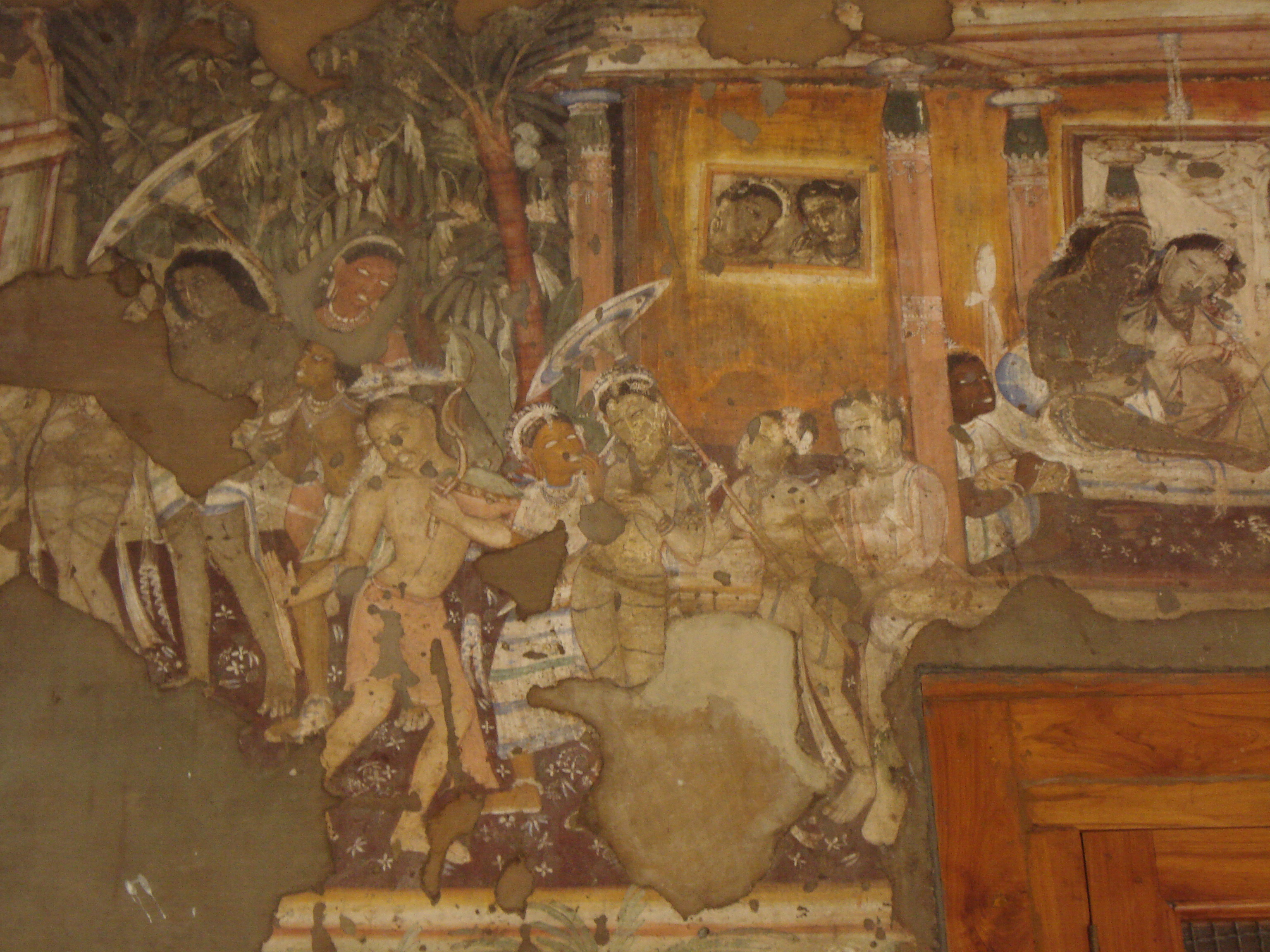 File ajanta caves painting 2 jpg for Ajanta mural painting