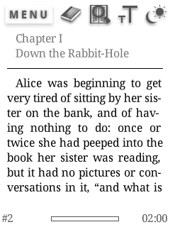 English: The main screen of Albite READER 2