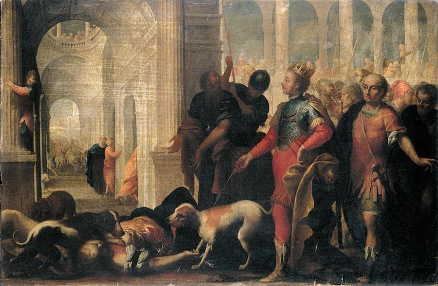Queen Jezebel Being Punished by Jehu, by Andrea Celesti