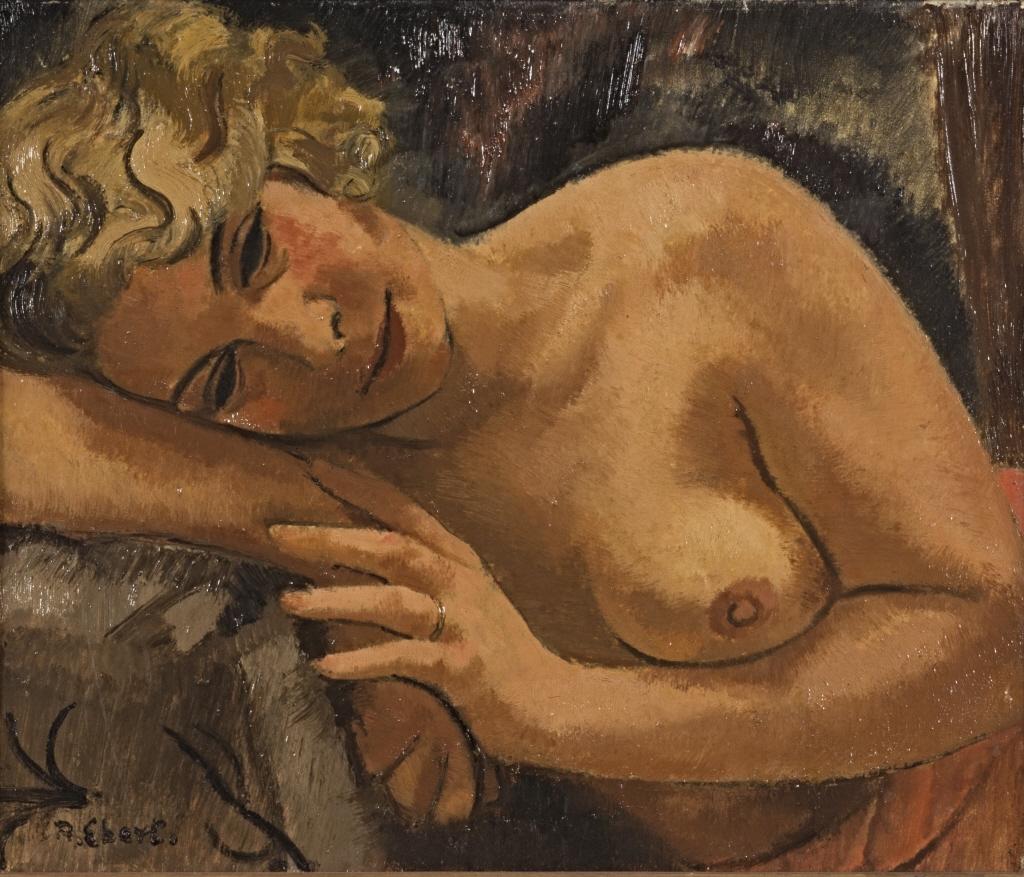 Антон Эберт - Weiblicher Halbakt - BG-M-SG 5698 ^ 92 - Berlinische Galerie.jpg
