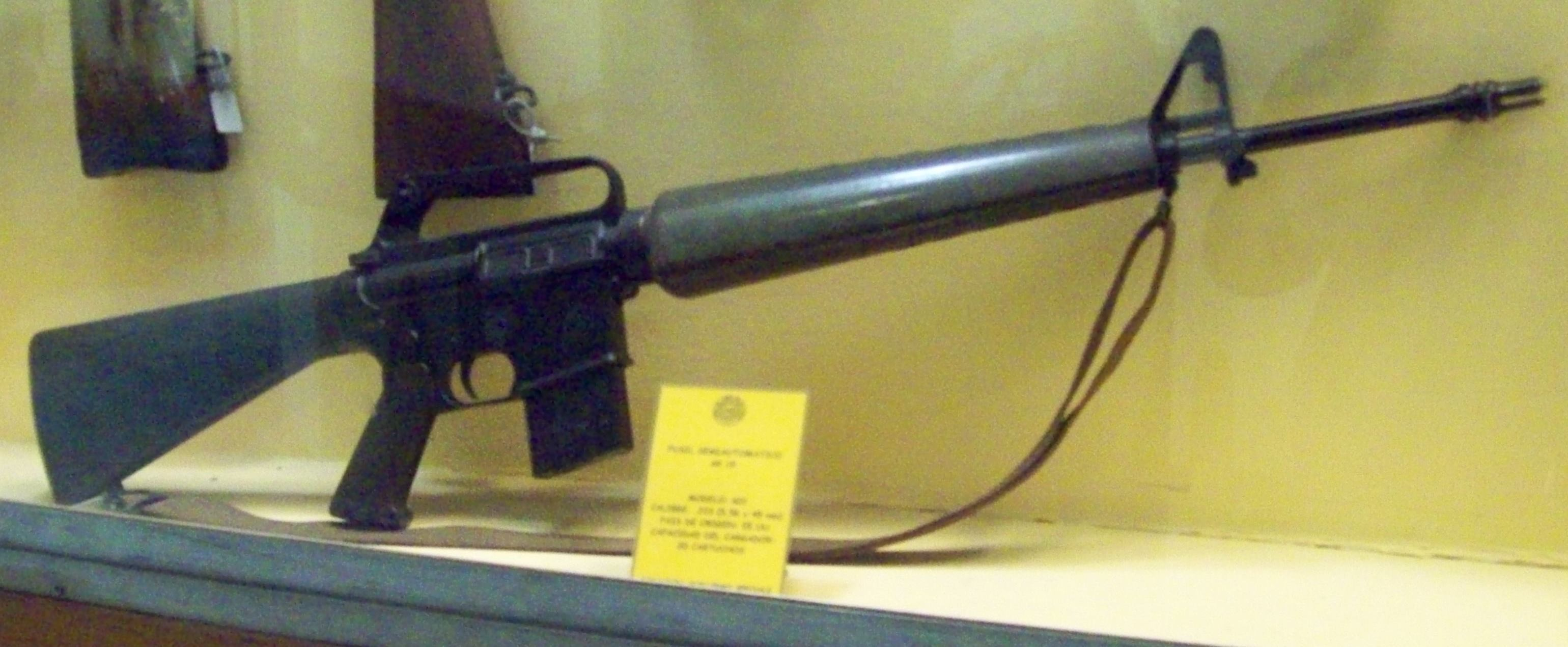 M16 rifle in 1964