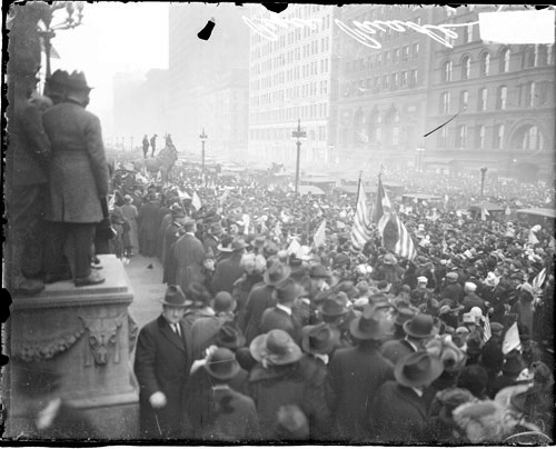Armistice Day celebration on South Michigan