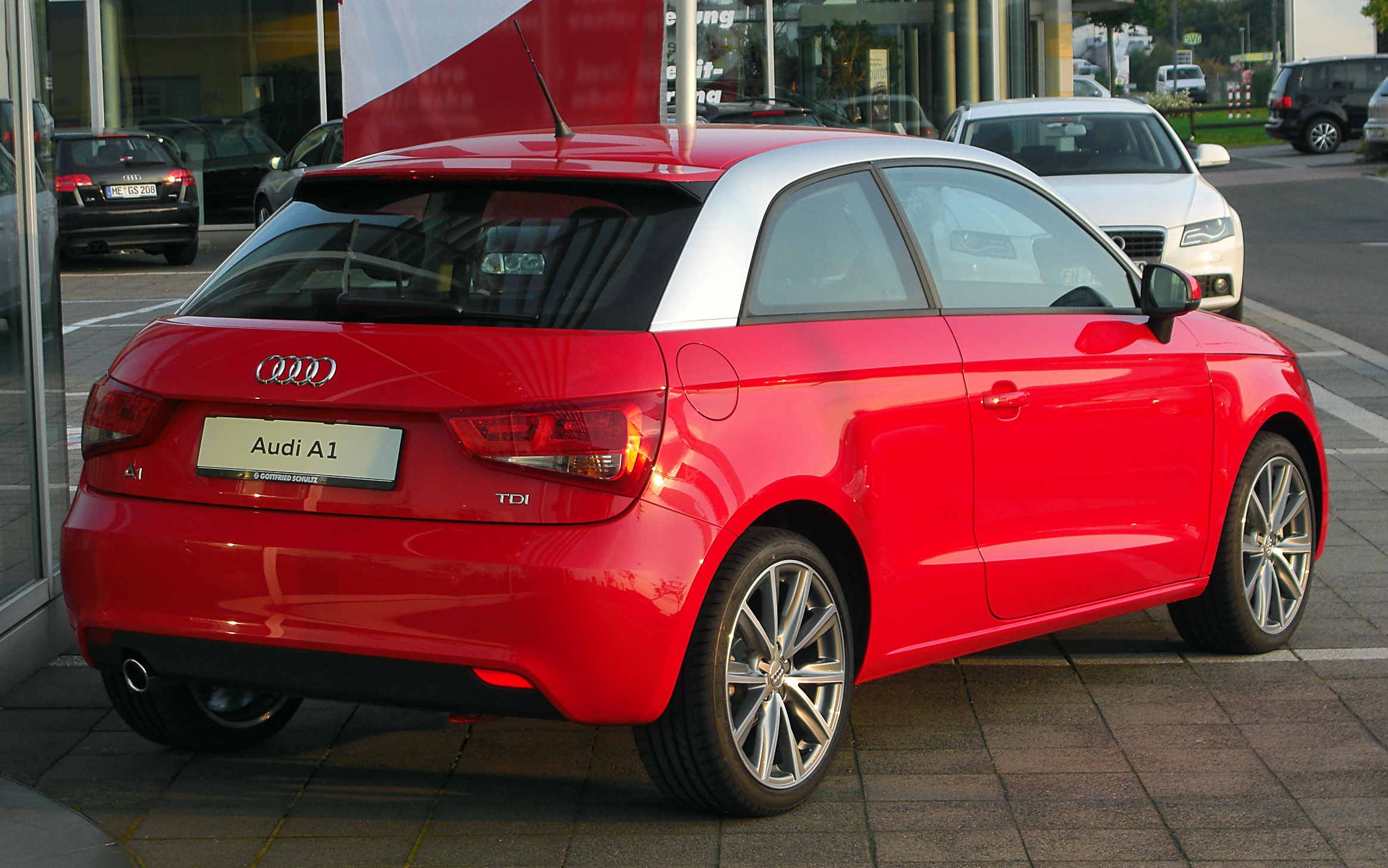 datei audi a1 1 6 tdi ambition rear wikipedia. Black Bedroom Furniture Sets. Home Design Ideas