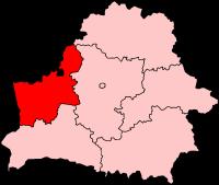 Гродненская область на карте