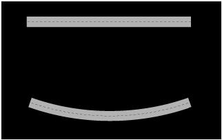 A statically determinate beam