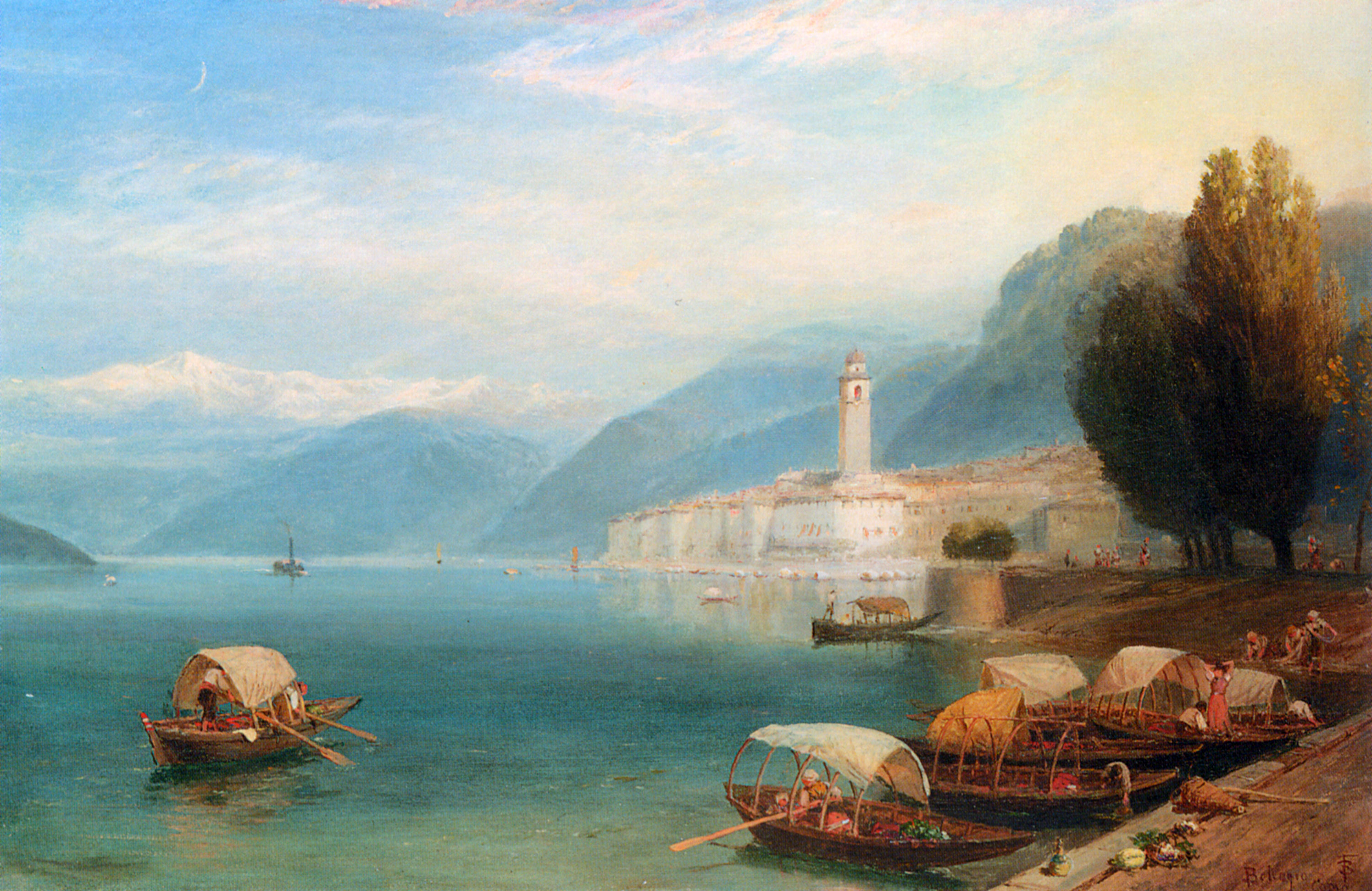 Description Birket Foster - Lake Como.jpg