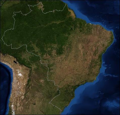 Satellitenaufnahme Brasilien